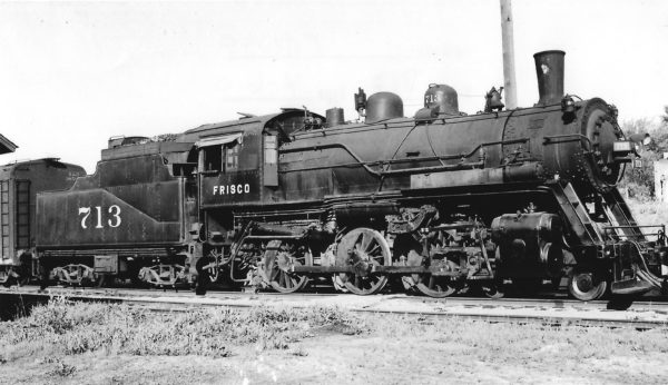 4-6-0 713 at Fulton, Kansas on May 1, 1948 (Arthur B. Johnson)