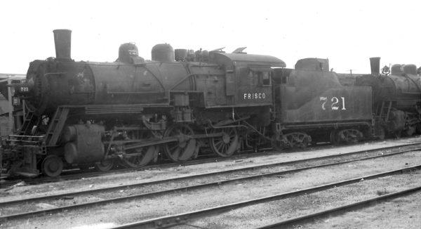 4-6-0 721 at Springfield, Missouri on November 25, 1951 (Arthur B. Johnson)