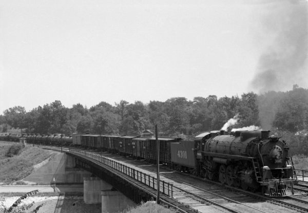 4-8-2 4301 Westbound at Southeastern Junction, St. Louis, Missouri in 1942 (William K. Barham)