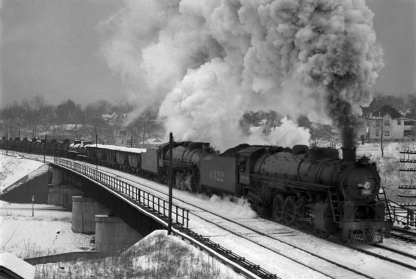 4-8-2s 4422 and 4411 at Southeastern Junction, St. Louis, Missouri (date unknown) (William K. Barham)