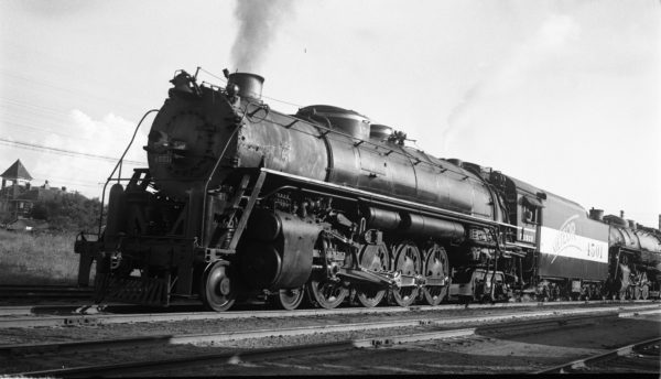 4-8-4 4501 at Tulsa, Oklahoma on October 1, 1944 (Collins)