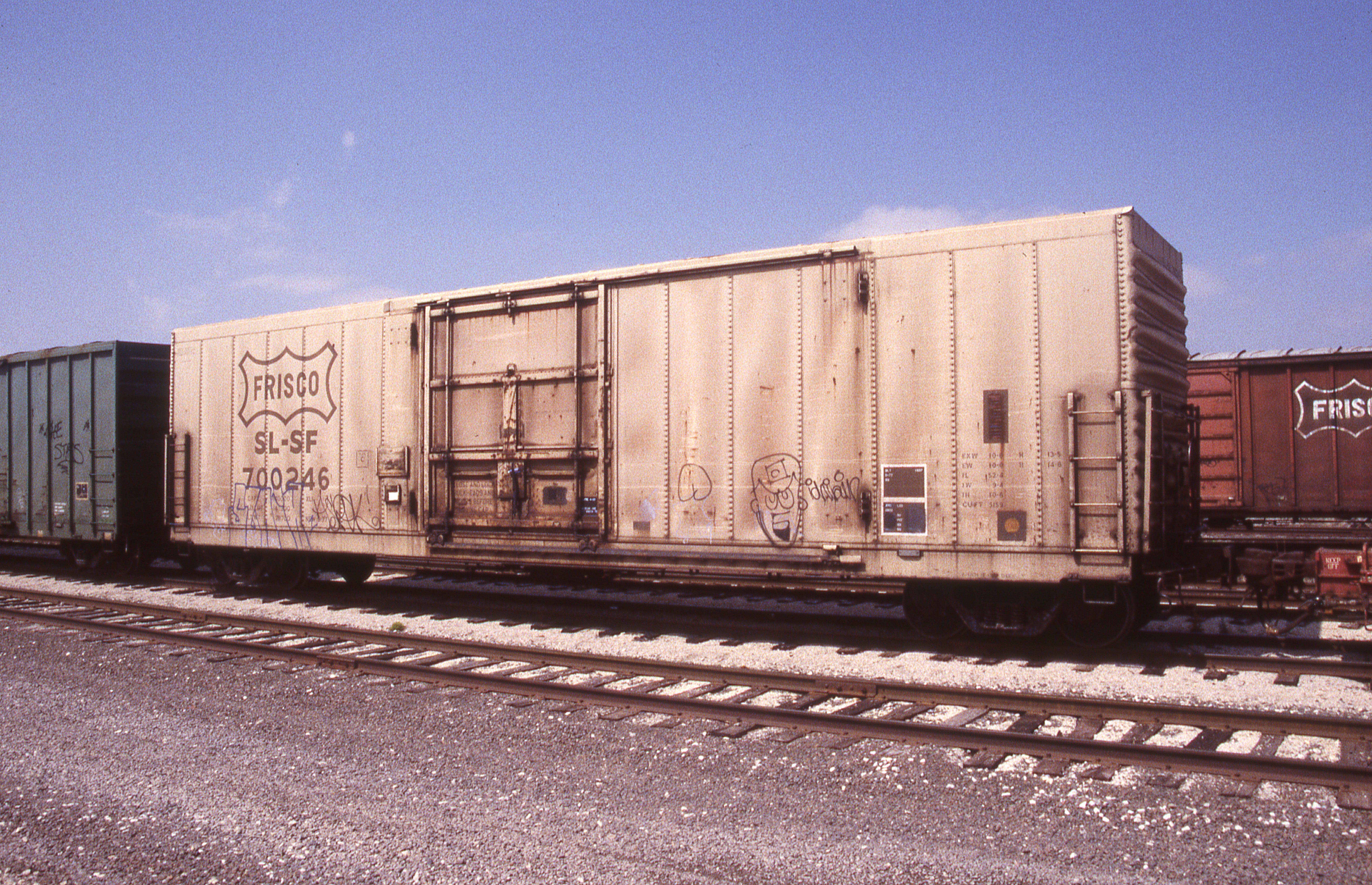 Boxcar 700246 at Topeka, Kansas on April 5, 1998 (R.R. Taylor)