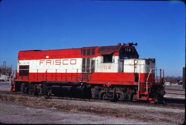 GP15-1 114 at Springfield, Missouri on January 17, 1981 (John Benson)
