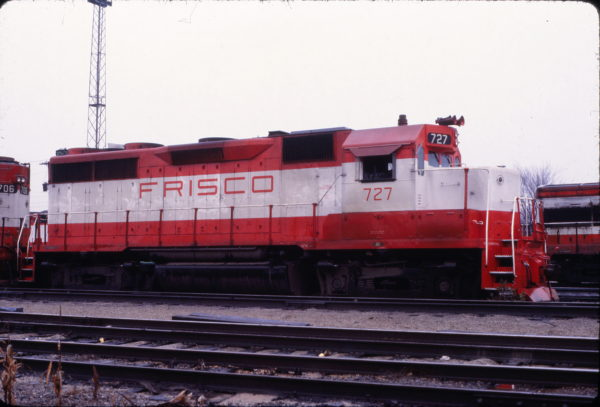 GP35 727 at Springfield, Missouri on November 16, 1978 (David Stray)