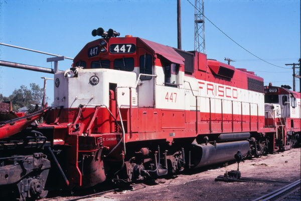 GP38-2 447 at Springfield, Missouri on September 18, 1978