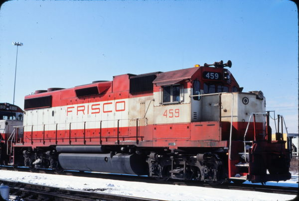 GP38-2 459 at St. Louis, Missouri in February 1979 (Michael Wise)