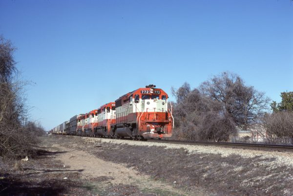 GP40-2 772 at Dallas, Texas on February 15, 1981 (Bill Phillips)