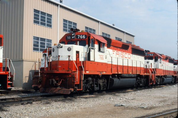 GP40-2s 766 and 762 at Tulsa, Oklahoma on July 14, 1980 (Gene Gant)