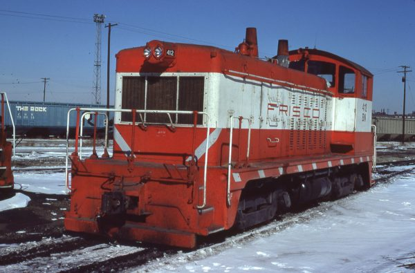 NW2 412 (Frisco 252) at Kansas City, Missouri on February 13, 1981 (Jerry Bosanek)