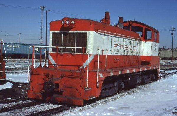NW2 412 (Frisco 252) at Kansas City, Missouri on February 13, 1981 (Jerry Bosanek)