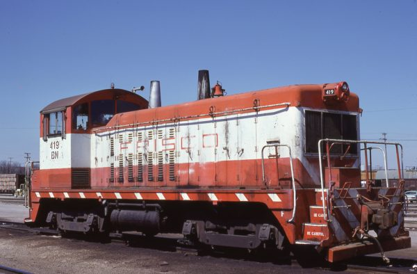 NW2 419 (Frisco 259) at Memphis, Tennessee in April 1981 (Lon Coone)