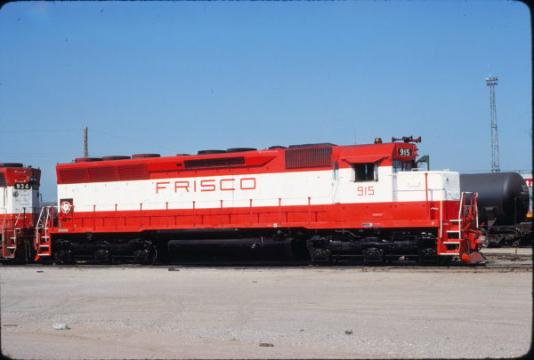 SD45 915 at Tulsa, Oklahoma on July 18, 1980 (James Holder)