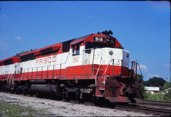SD45 916 at Tulsa, Oklahoma on May 19, 1980
