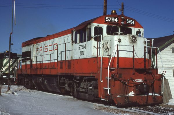 U30B 5794 (Frisco 857) at Omaha, Nebraska on February 11, 1981