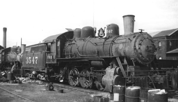 0-6-0 3547 awaiting scrapping at Springfield, Missouri on October 17, 1948 (Arthur B. Johnson)