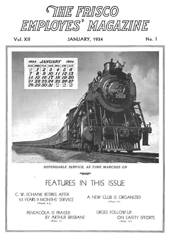 Frisco Employes' Magazine – January 1934