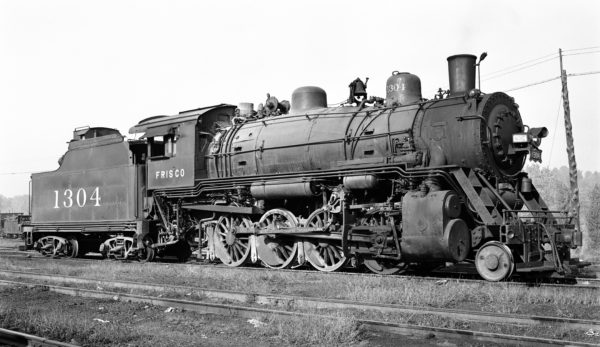 2-8-0 1304 at Lindenwood Yard, St. Louis, Missouri on September 24, 1949 (Robert J. Foster, Louis A. Marre Collection)
