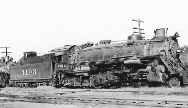 2-8-2 4103 at Tulsa, Oklahoma on September 24, 1948 (Arthur B. Johnson)