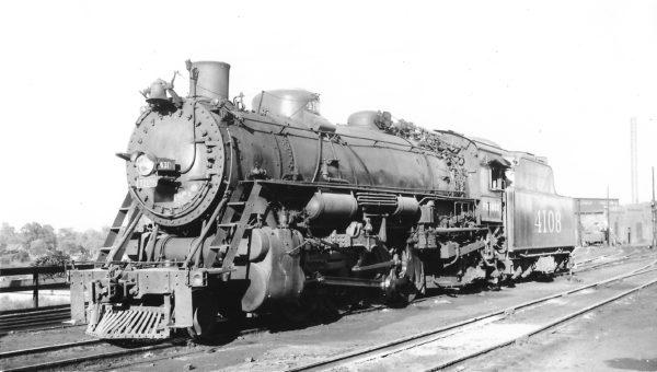 2-8-2 4108 at Springfield, Missouri on October 1, 1949 (Arthur B. Johnson)