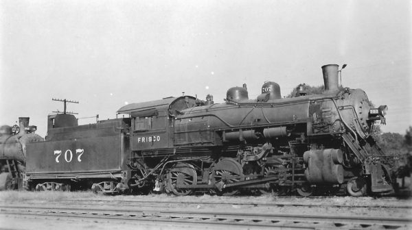 4-6-0 707 at Tulsa, Oklahoma on September 27, 1948