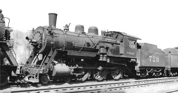 4-6-0 728 at Springfield, Missouri on April 11, 1937 (Arthur B. Johnson)