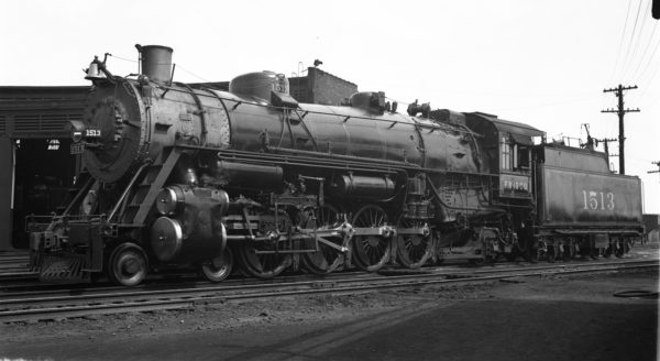 4-8-2 1513 at Lindenwood Yard, St. Louis, Missouri in 1935 (R. Graham-Louis A. Marre Collection)