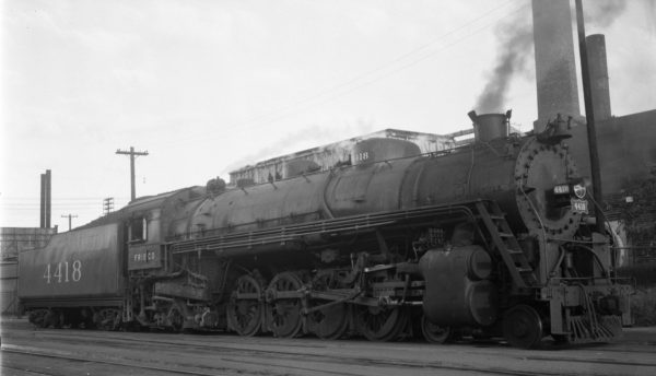 4-8-2 4418 in the South Yard, St. Louis, Missouri on September 3, 1944 (Collins-Louis A. Marre Collection)