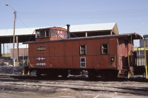 Caboose 11503 (Frisco 1104) at Denver, Colorado on April 16, 1983 (Mike Reid)