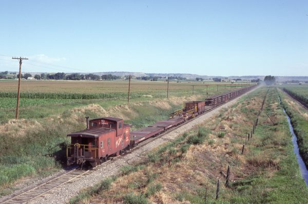Caboose 11684 at Laurel, Montana on August 14, 1982 (D.L. Zeutchel)