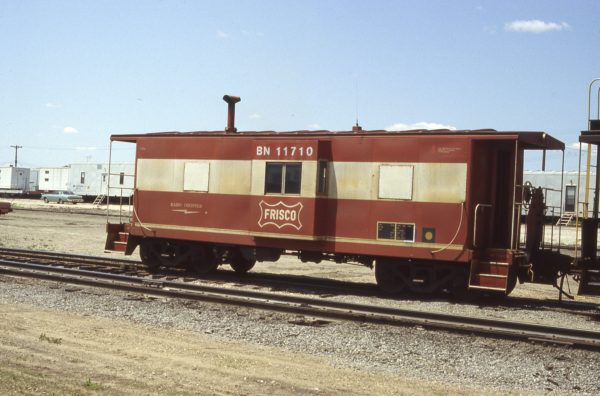 Caboose 11710 (Frisco 1735) at Cicero, Illinois in May 1983 (Tom Kidd)