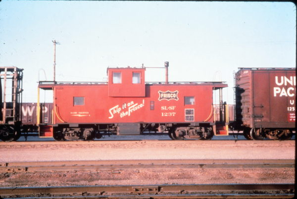 Caboose 1237 at North Platte, Nebraska in July 1975