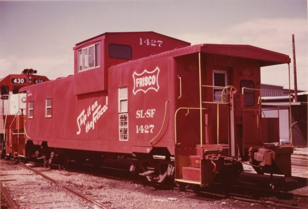 Caboose 1427 at Columbus, Mississippi on September 11, 1976