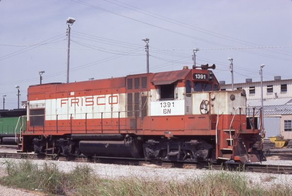 GP15-1 1391 (Frisco 116) at Memphis, Tennessee on September 12, 1981 (D.M. Johnson)