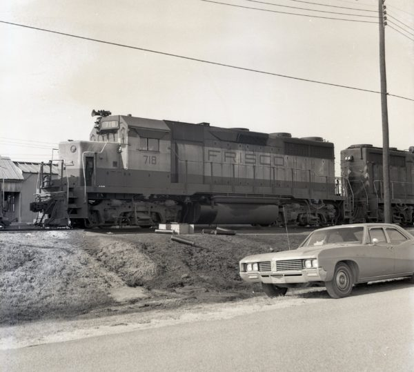 GP35 718 at Mobile, Alabama in January 1969