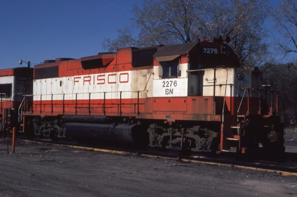 GP38-2 2276 (Frisco 421) at Omaha, Nebraska on April 1, 1981 (Jerry Bosanek)