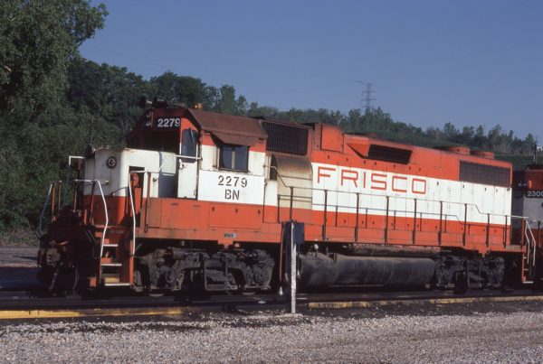 GP38-2 2279 (Frisco 424) at Omaha, Nebraska on May 20, 1981 (Jerry Bosanek)