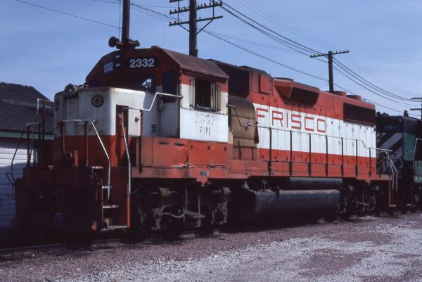 GP38-2 2332 (Frisco 477) at Omaha, Nebraska on June 22, 1982 (Jerry Bosanek)