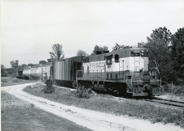 GP7 615 and Caboose 1153 (date and location unknown)