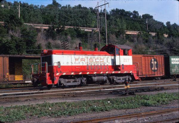 NW2 257 at Kansas City, Missouri on May 29, 1976 (Porreca & Associates)