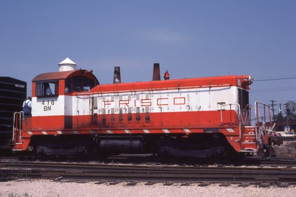 NW2 416 (Frisco 256) at Kansas City, Missouri on June 23, 1981 (M.A. Wise)