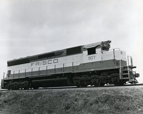 SD45 907 at LaGrange, Illinois on February 24, 1967 (EMD Photo)