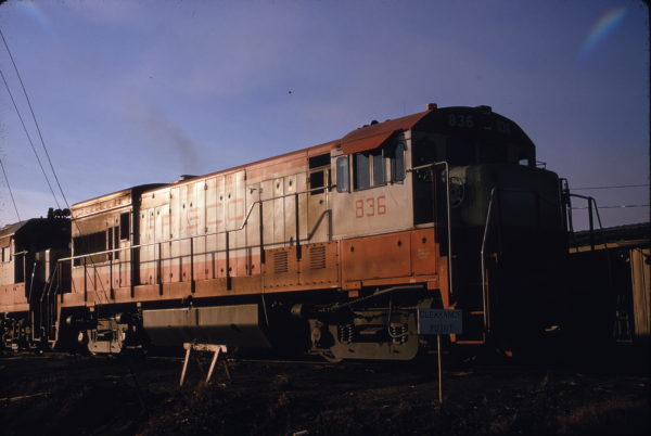 U30B 836 at Mobile, Alabama on January 4, 1970 (Howard Wayt)