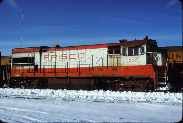 U30B 862 at North Platte, Nebraska in February 1978 (Paul Schneider)