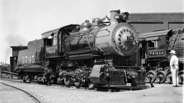 0-6-0 3745 at Kansas City, Missouri in July 1938 (Fancher-Louis A. Marre)
