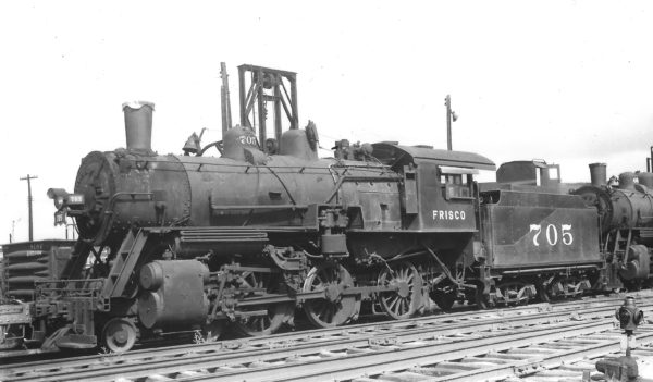 4-6-0 705 at Springfield, Missouri on October 7, 1951 (Arthur B. Johnson)