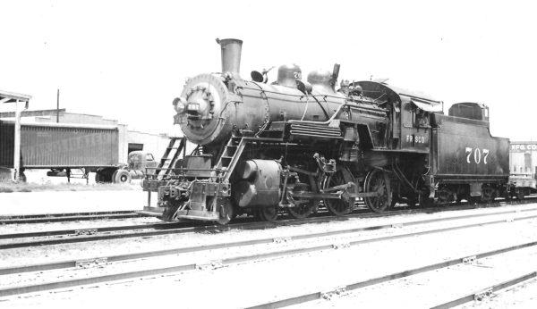 4-6-0 707 at Tulsa, Oklahoma on September 3, 1947 (Arthur B. Johnson)