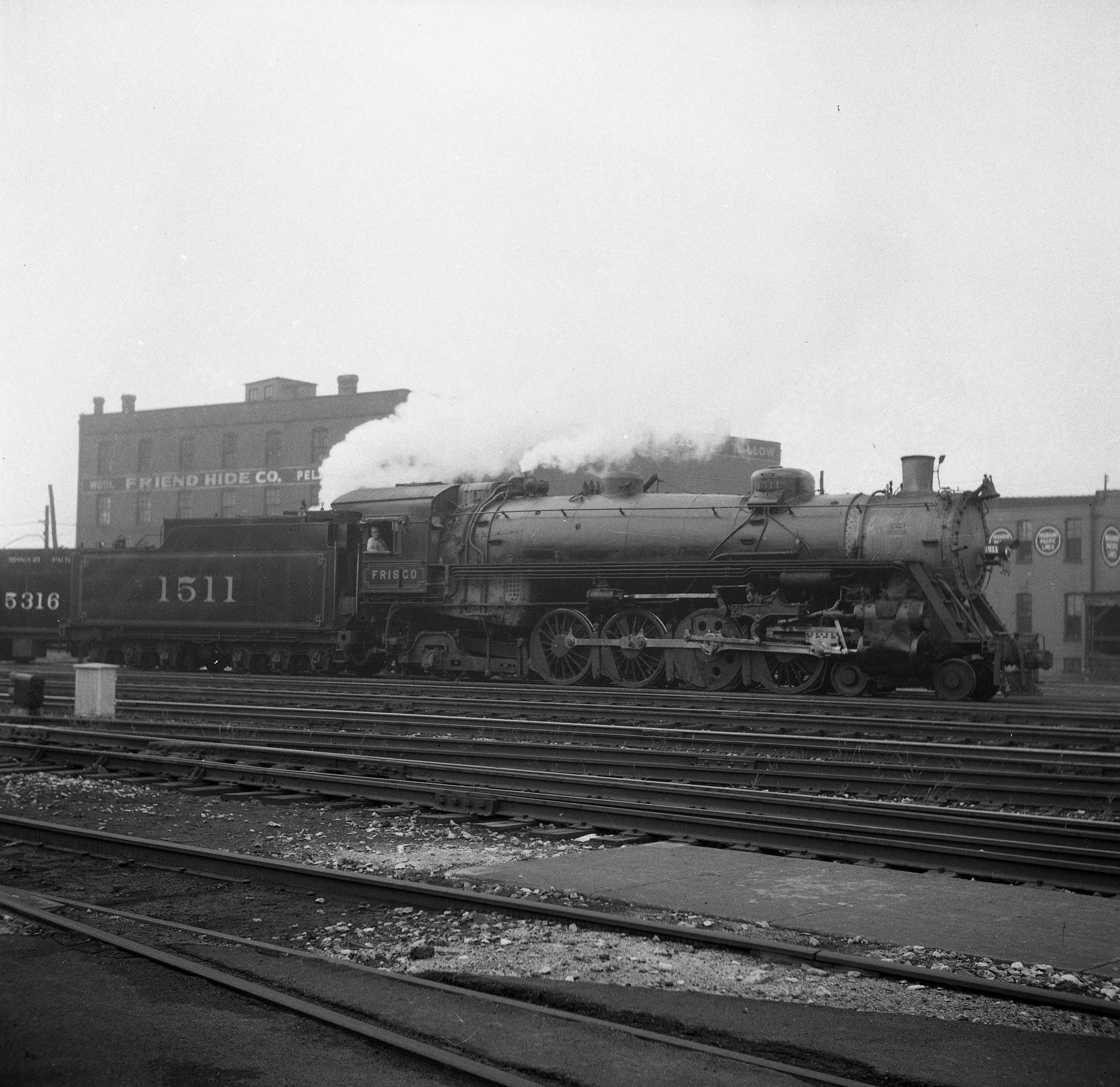4-8-2 1511 at St. Louis, Missouri (date unknown) (Louis A. Marre)