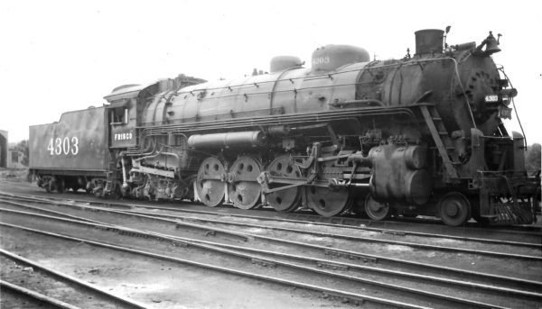 4-8-2 4303 at Springfield, Missouri on May 15, 1948 (Arthur B. Johnson)