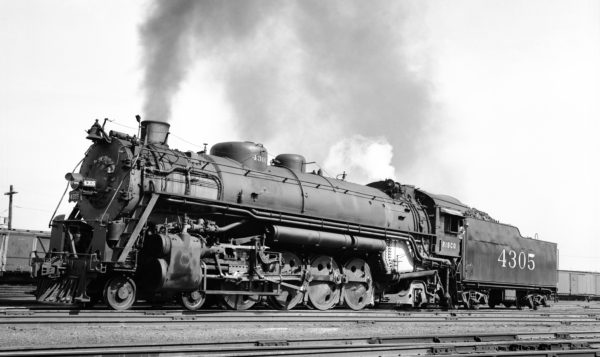 4-8-2 4305 at Lindenwood Yard, St. Louis, Missouri in 1939 (Robert J. Foster-Louis A. Marre Collection)