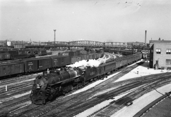 4-8-2 4401 with the Will Rogers at St. Louis, Missouri in 1949 (Williams-Louis A. Marre)